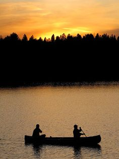 Nothing like canoeing at sunset. Algonquin Park, Ontario Canada