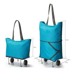 Wholesale custom vegetable foldable shopping trolley bag for supermarket