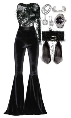 """""""Untitled #225"""" by chichimia on Polyvore featuring Amen, Faith Connexion, Roger Vivier, Maison Margiela, Rolex, Blue Nile and Dauphin"""