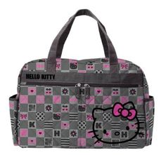 Sanrio Check Hello Kitty Overnight Bag