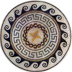 Medallion Mosaic Pattern Tile Stone Art Floor Tabletop | eBay