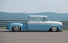 Visit The MACHINE Shop Café... ❤ Best of Trucks @ MACHINE ❤ ('57 Ford F100 Crew Cab Pickup)