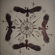 Original Drawing - Old Crow Tattoo