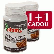 Magneziu 375MG, 30cps 1+1 Gratis