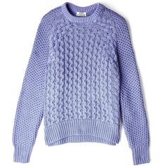 Acne Blue Ruth Air Cable Knit Sweater found on Polyvore