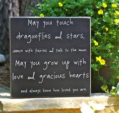 Dragonflies and Stars Box Sign.