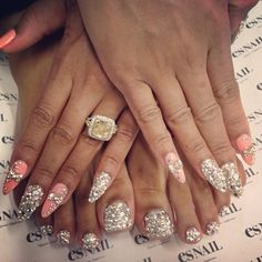 Blac Chyna's nails by @esnail_la