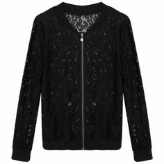 Meaneor Stylish Ladies Women Casual V Neck Long Sleeve Lace Hollow Out Pocket…