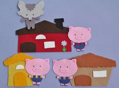 3 Pigs Felt Story Flannel Board Story Librarian gifts