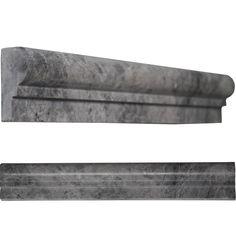 Ogee Molding 2 x 12 Tile Dark grey marble polished wall floor tile kitchen backsplash bathroom wall floor luxury stone by medusa tile