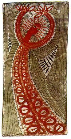 «Sorcière rouge» 1967 de Elena Holéczyova, Tchécoslovaquie. Dentelle aux fuseauxb/ Bobbin lace
