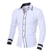 Material: Cotton, Polyester Sleeve Length: Full Collar: Turn-down Collar Shirts…