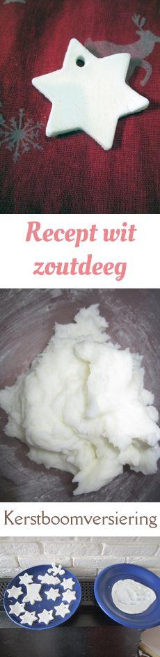 Recept voor spierwitte 'klei' gemaakt van maïzena en baking soda. Wordt hard na drogen, droogt sneller dan zoutdeeg.
