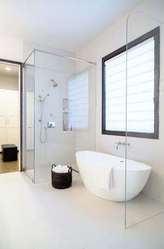 Master Bath Remodel - new free-standing tub, linear drain, curbless shower