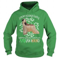 Afghan Hound Saint Patrick's Day Lucky With An Afghan Hound Dog