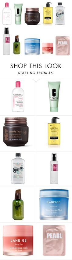 """""""skin care routine"""" by ef1993 on Polyvore featuring beauty, Bioderma, Clinique, Innisfree, Cosrx, Laneige and Lapcos"""