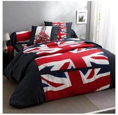Union Jack bedroom!