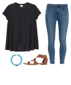 """""""here's my heart, Lord."""" by payton-anne ❤ liked on Polyvore featuring moda, Monki, Paige Denim, Steve Madden, Everest, women's clothing, women, female, woman y misses"""