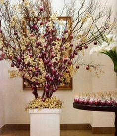 Galhos secos (Árvore Francesa) em decorações de Casamento