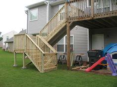 deck stair design | Deck Stair Addition