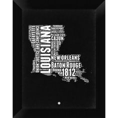 Baton Rouge map skyline framed print Louisiana map Baton rouge