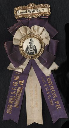 Ribbon for Good Will No. 7 Fire Company of Harrisburg, PA, 1912 by Photo_History, via Flickr
