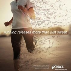 Running releases more than sweat