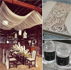 Awesome idea--sheer draping with lights on the inside!