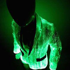 a0c85c25d45 LED Jacket for Men Light Up Clothing Burning Man Clothes. Fiber Optic ...