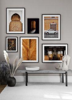 Home Decor Wall Art, Living Room Decor, Art Decor, Desenio Posters, Wall Design, House Design, Modern Gallery Wall, Gallery Walls, Art Gallery