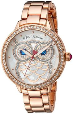 Betsey Johnson Womens Quartz Metal and Alloy Casual Watch ColorRose GoldToned Model BJ0061601 >>> Learn more by visiting the image link.Note:It is affiliate link to Amazon.