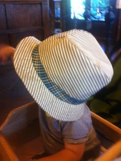 Teddy's Fedora.  What 1 year old doesn't need this hat?  Sewn from commercial pattern.