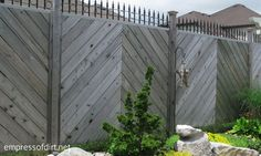 Chevron privacy fence