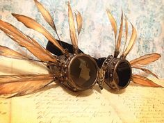 PHOENIX Goggles Burning Man Goggles STEAMPUNK by FromThePerch