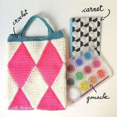 Isabelle Kessedjian: The serial crocheteuses n°174 : un petit sac à main.