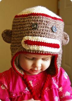 Sock Monkey Hat--Miranda says she wants this!