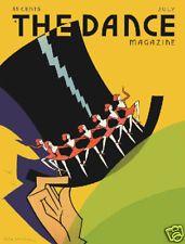 Dance magazine cover deco Tophat Chorus line 1920's art poster print SKU1284