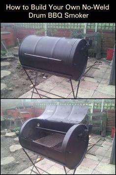 Diy Home Crafts, Diy Home Decor, Build Your Own Smoker, Industrial Packaging, Drum Smoker, Homemade Smoker, Steel Drum, Smoking Meat, Metal Working