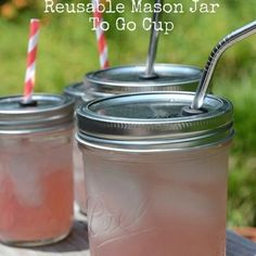 Reusable Masson jar to go mug