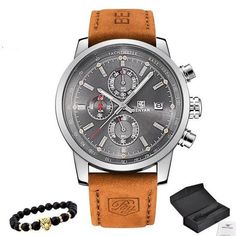 32cbee0a236 Relógio Masculino Benyar com Pulceira de Couro  moda  modamasculina   modasocial  acessórios