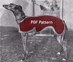 Vintage Greyhound Dog Sweater Coat Jacket Knit Pattern PDF Instant Digital…