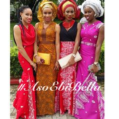 For the newbies, an a wedding guest {bella} looking stunning in aso-ebi – the fabric/colours of the day, at a traditional engagement or - BellaNaija Weddings. Color Of The Day, Accra, Aso Ebi, African Dress, Looking Stunning, Head Wraps, African Fashion, Fashion Art, Wax