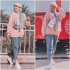 From the moment it becomes apparent that spring is just around the corner, women start creating a list of new fashion items they need to possess as soon as Modest Fashion Hijab, Street Hijab Fashion, Casual Hijab Outfit, Casual Outfits, Fashion Outfits, Spring Outfits Classy, Hijab Trends, Roman, Girl Hijab