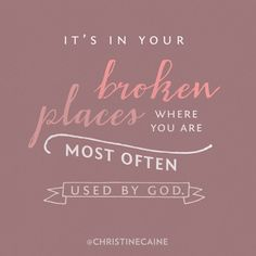 It's in your broken