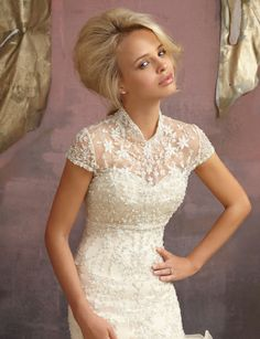 Mori Lee Wedding Jackets - Style 18680 coverlet...?