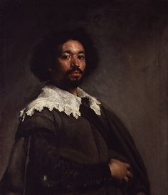 """Juan de Pareja"" about 1650, in Rome. Velasquez' painted this portrait of his Moorish slave about 4 years before he freed him. de Pareja was an assistant in the painter's workshop & became a painter himself. Velázquez clearly intended to impress his Italian colleagues. We are told that the picture ""gained such universal applause that in the opinion of all the painters of the different nations everything else seemed like painting but this alone like truth."""