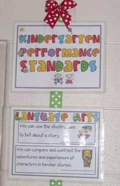 kindergarten common core standards  http://www.teacherspayteachers.com/Product/Common-Core-Standards-Posters-for-Kindergarten