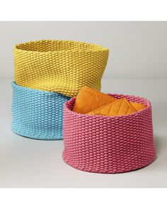 The Land of Nod Kneatly Knit Large Storage Bins from The Land of Nod   BHG.com Shop