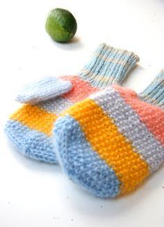 Rainbow Mittens autumn fall gloves mitts blue by RainbowMittens, $40.00