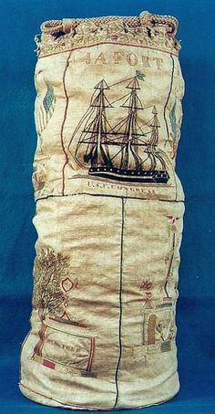 Embroidered Sailor's Seabag, 1842.